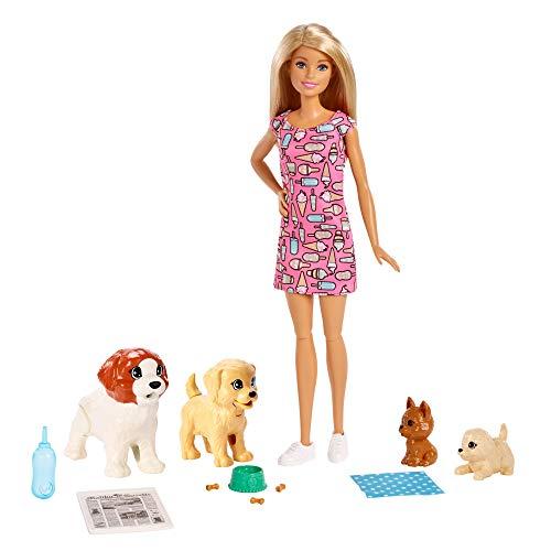 Barbie FXH08 - Hundesitterin Puppe und Welpen inkl. 4 Haustieren und...