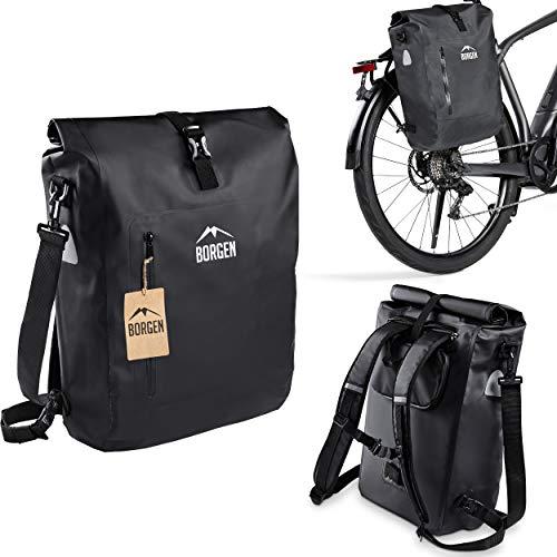 Borgen Fahrradtasche für Gepäckträger 3in1 Fahrrad Rucksack I...