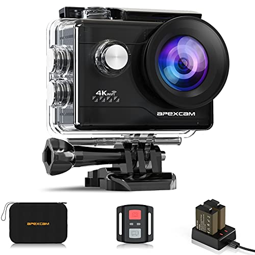 Apexcam 4K Action cam 20MP WiFi Sports Kamera Ultra HD...
