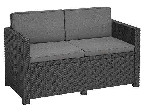 'Allibert by Keter' Gartenlounge Sofa Victoria, graphit/cool grey,...