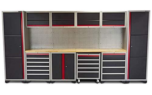 Profi Werkstatteinrichtung Set mit Schubladen 405 x 51 x 204 cm,...