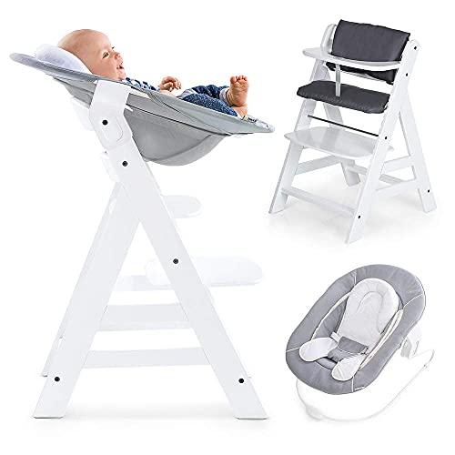 Hauck Alpha Newborn Set - Baby Holz Hochstuhl ab Geburt mit...