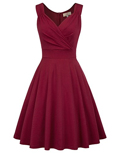 GRACE KARIN 50s Kleid Rockabilly ärmellos Partykleid Damen Vintage...