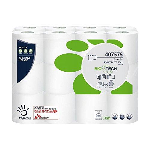 Papernet Selbstauflösendes Toilettenpapier Bio Tech 2-lagig 24 Rollen...