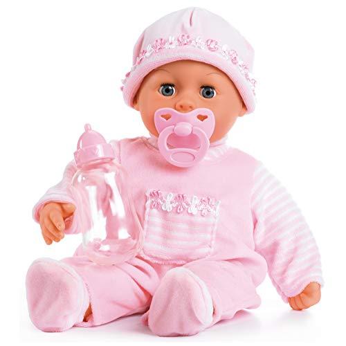 Bayer Design 93824AA Babypuppe First Words mit Schlafaugen, spricht 24...