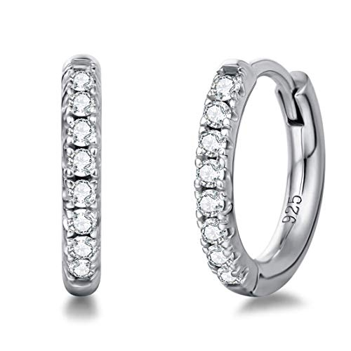 Damen Creolen Ohrringe Runde Knorpel Klein aus 925 Sterling Silber...