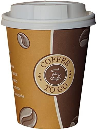 Gastro-Bedarf-Gutheil 100 Pappbecher Coffee to go 0,3 L Top Becher mit...