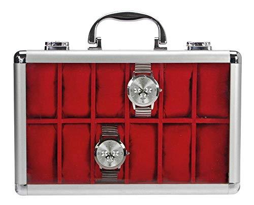 SAFE 265 ALU Uhrenaufbewahrungsbox Herren für 12 Uhren-Schmuckhalter...