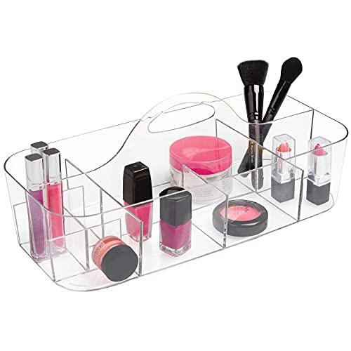 mDesign Kosmetikkorb mit 11 Fächern – tragbarer Aufbewahrungskorb...