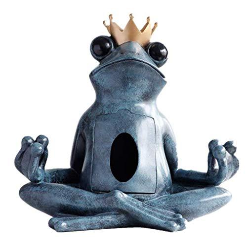ZLBYB Frosch Statue Tissue Box-Halter, kreative Geometrische...