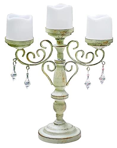 WQQLQX Statue Eisen Kerzenhalter Ornamente Handwerk Dekoration...