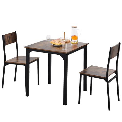 Essgruppe mit 2 Barhockern, Bartisch-Set, Bar Tisch und Stühle aus...