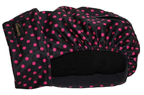 Glenndarcy Weibliche Hundehosen - Waschbar - Black Pink Dots Large...