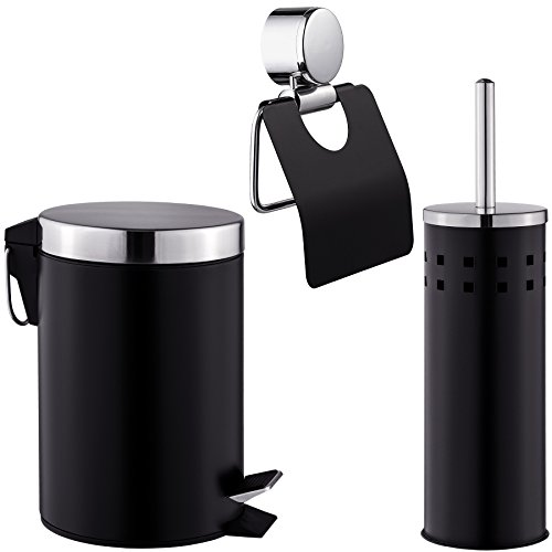 tectake Exclusives 3 teiliges Badset Toilettenrollenhalter +...