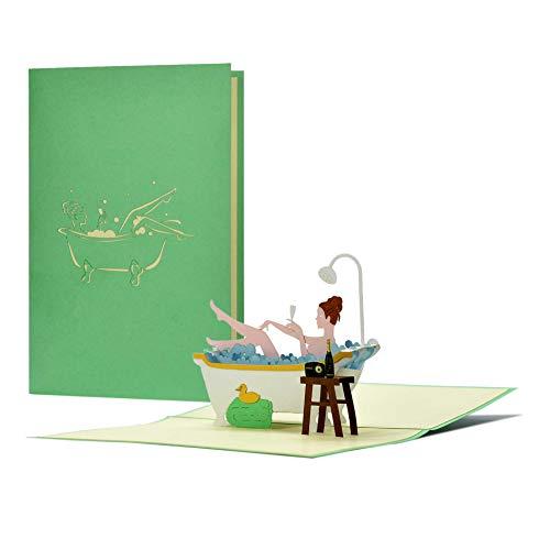 Wellness Gutschein 3D Pop-Up Geburtstagskarte Geschenkidee zu...