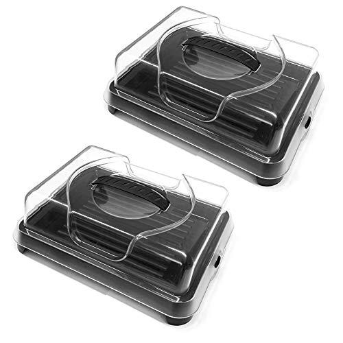 HAC24 2X Kühlplatte mit Deckel Servierplatte Kühl Platte Kunststoff...