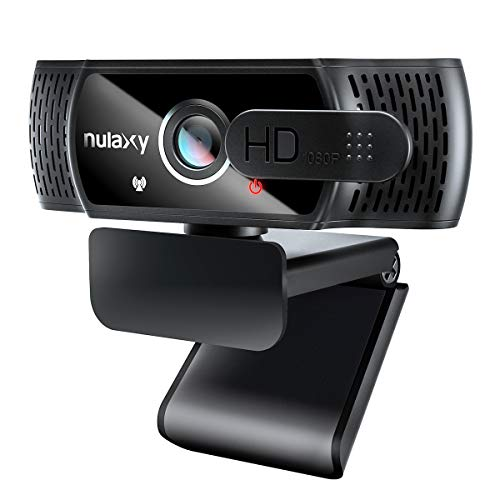 Nulaxy C900 Webcam mit Mikrofon, FHD 1080P Webcam mit Abdeckung,...