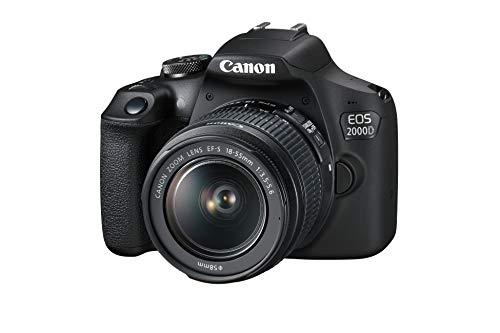Canon EOS 2000D Spiegelreflexkamera - mit Objektiv EF-S 18-55 F3.5-5.6...