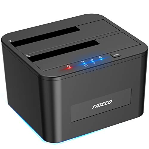 FIDECO Festplatten Dockingstation, USB3.0 SATA HDD Dockingstation für...