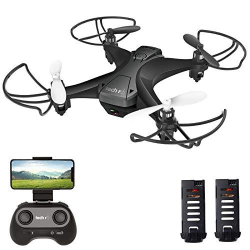 tech rc Drohne mit Kamera HD FPV RC Mini Drone mit 2 Akkus 2.4Ghz...