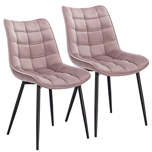 WOLTU® Esszimmerstühle BH142rs-2 2er Set Küchenstuhl Polsterstuhl...