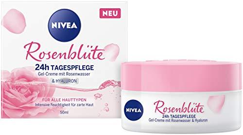 NIVEA Rosenblüte 24h Tagespflege (50 ml), Gesichtspflege mit...