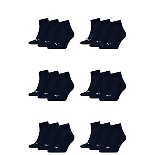 Puma 18 Paar Unisex Quarter Socken Sneaker Gr. 35-49 für Damen Herren...