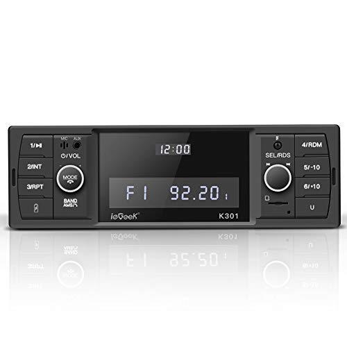 ieGeek Bluetooth Autoradio, RDS/MP3/FM/AM/SD/AUX/USB Funktion mit...