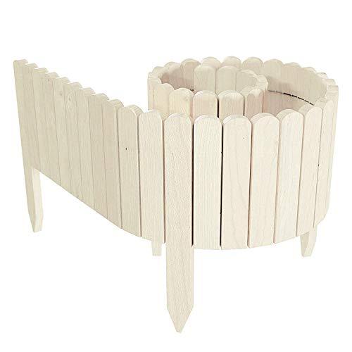 Rpporm Tik Tok Holz Zaun Gartenpalisade Beeteinfassung, Holz Flexible...