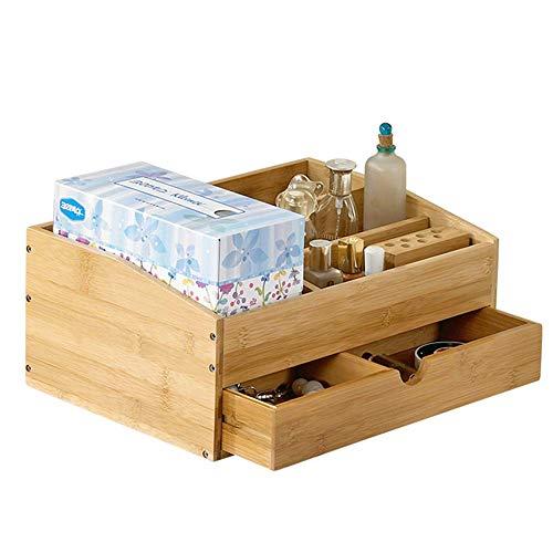 SBDLXY Make-up Organizer, Bambus Holz Waschtischplatte, mit Schubladen...