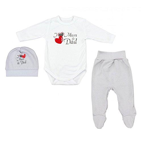TupTam Baby Unisex Bekleidungsset mit Aufdruck 3 TLG, Farbe: I Love...