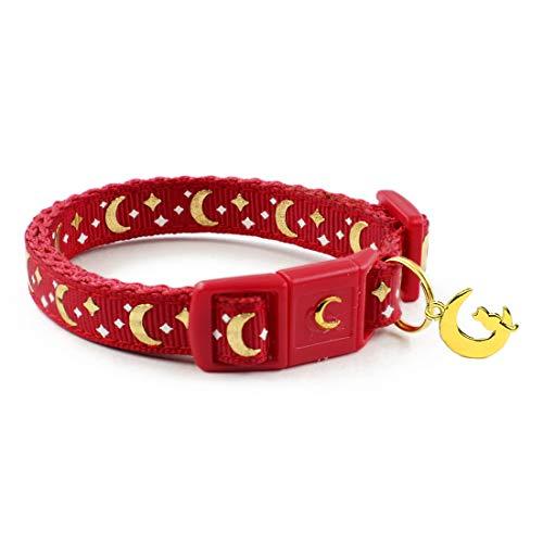 waaag Haustierr, Haustierhalsband mit Goldmonden und Sternen für...