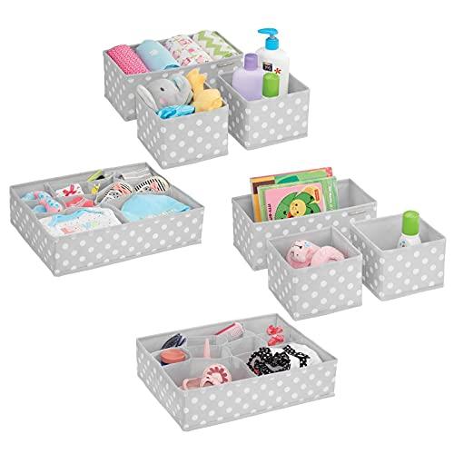 mDesign 8er-Set Aufbewahrungsboxen Stoff – Schubladenboxen mit...