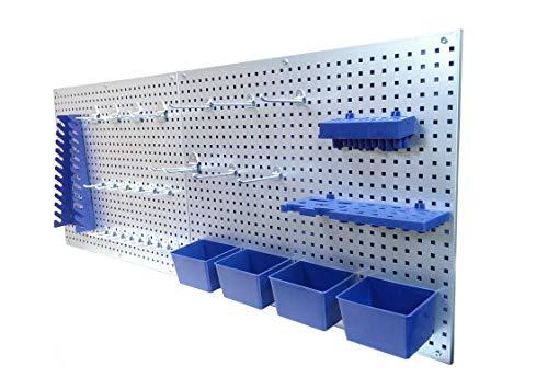 Werkzeugwand Lochwand Werkstattwand Werkstatt mit Hakensortiment 32...