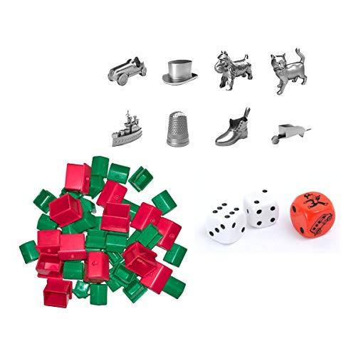 div Hasbro 90002 Bundle - Monopoly - Zubehör Set mit Spielfiguren -...