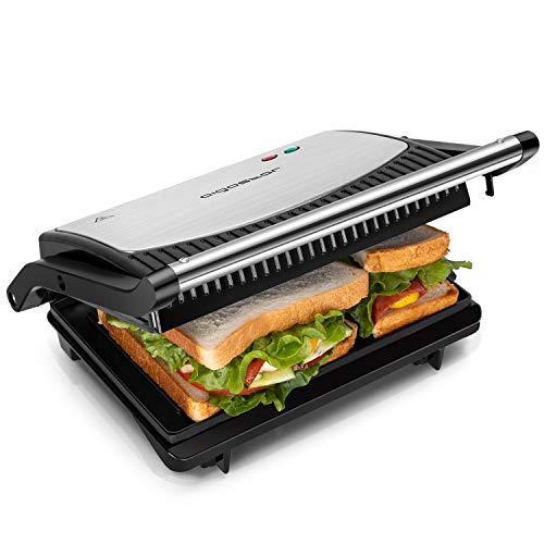Aigostar Sandwichmaker 800W, Grilltoaster, Panini Maker, Cool...