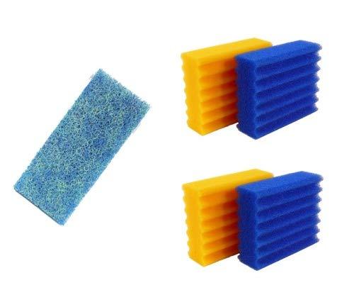 Pondlife 4 STK. Filterschwämme 2 Blaue & 2 gelbe -Plus- 1 STK....