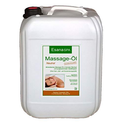 Esana SPA Massageöl neutral (5 Liter) für Wellness & Physiotherapie,...