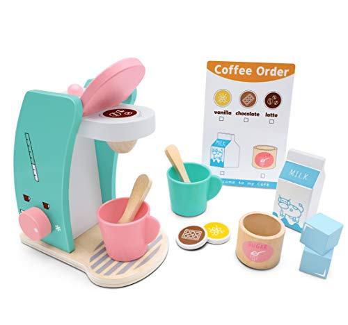 Tiny Land Kinderküche Brew & Serve Kaffeemaschinen-Set aus Holz -...
