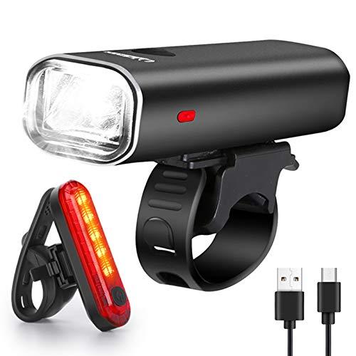 WQJifv LED Fahrradlicht Set, StVZO Zugelassen Superhelle 400 Lumen USB...
