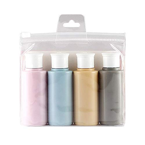 4 PCS Travel Sub Flasche Silikon Tragbaren Einfach Soft Skin...