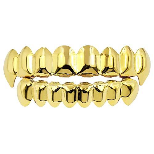 Diealles Shine Gold Grills Hip Hop Teeth Grills für den Mund