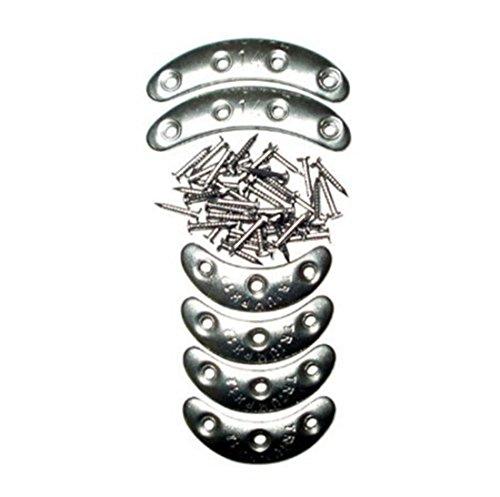 HeimUndWerken Metallstossplatten Sortiment 6 Paar