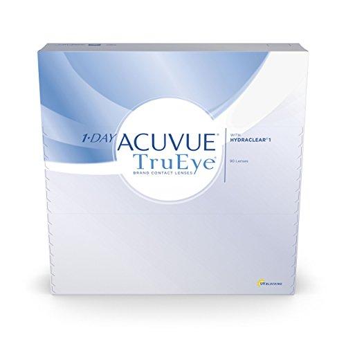 Acuvue 1-Day TruEye Tageslinsen weich, 90 Stück / BC 8.5 mm / DIA...