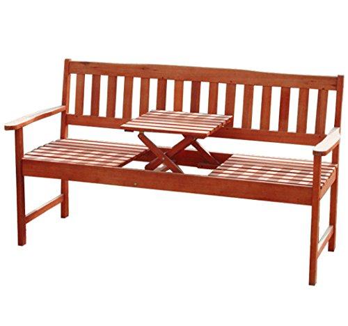 KMH®, 3-sitzer Gartenbank (160 cm) aus Eukalyptusholz mit...