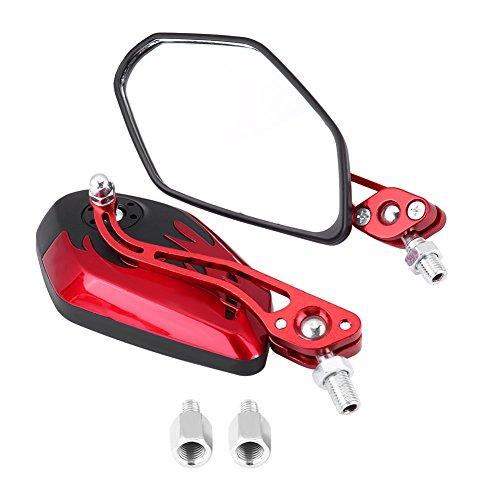 Keenso Motorrad Rückspiegel, 1 Paar 8mm/ 10mm Universal Motorrad...