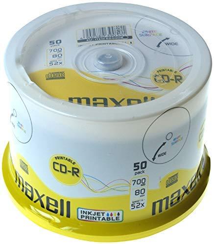 Maxell CD-R Recordable 700MB 80min 52x bedruckbar 50er Pack Spindel
