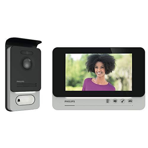 PHILIPS WelcomeEye Comfort Video-Türsprechanlage, mit Kamera, 7 Zoll...