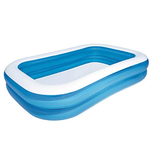 Family-Pool blau/weiß, Schwimmbecken
