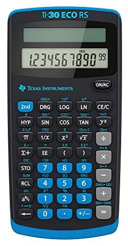 Texas Instruments TI 30 ECO RS Taschenrechner (10-stellige Display,...
